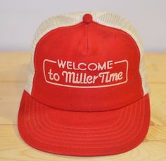 bef02828 Details about Vtg 70s WELCOME TO MILLER TIME Snapback TRUCKERS HAT Miller  Light Beer Mesh. Mesh ClothingVintage ...