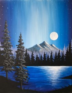 Join us for a Paint Nite event Wed Jan 2018 at 815 W. … Join us for a Paint Nite event Wed Jan 2018 at 815 W. Purchase your tickets online to reserve a fun night out! Easy Canvas Painting, Simple Acrylic Paintings, Acrylic Painting Tutorials, Acrylic Art, Canvas Art, Sky Painting, Landscape Art, Landscape Paintings, Landscapes