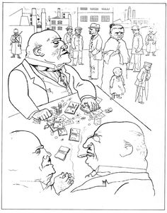 Drawing by George Grosz: Toads of Property (1920)