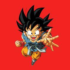 Camiseta niño Dragon Ball Z. Goku, rojo