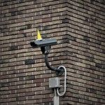On tuesday the 25th of June, to celebrate the 110th birthday of George Orwell, surveillance cameras in the center of the city of Utrecht were decorated with colorful party hats!