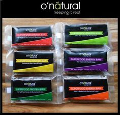 O'Natural's awesome bars! Luxury Chocolate, Energy Bars, Protein Bars, Superfood, Dairy Free, Sweets, Social Media, Snacks, Natural