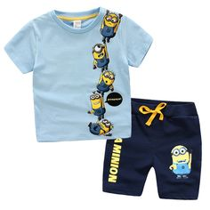 3-10 years Children Clothing Set T-Shirt Tops + Pants 100% Cotton Sports suit Summer Casual Outfits Boy Clothes Set,S for 2-4 years old,M for 4-6 years old,L for 6-8 years old,XL for 8-10 years old