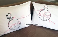 These romantic his and hers couple pillowcases, bring couples closer together…