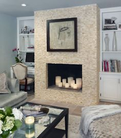 #focal Fireplace with built in bookcases.  Designed by Marc-Michaels Interior Design