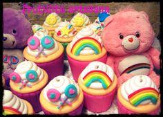 centros de mesa cupcakes ositos cariñosos ,care bears en porcelana fria