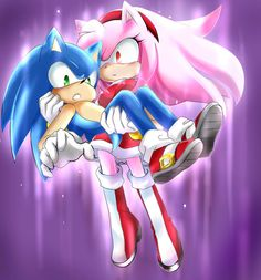 Image result for sonic and amy kiss