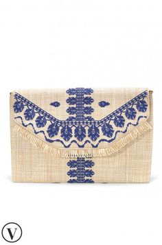 This embroidered indigo clutch purse is the perfect bag for summer parties! Shop our City Slim Embroidered Indigo purse at Stella & Dot.