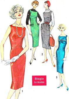 1950s Dress Pattern Simplicity 2614 Square Neck by paneenjerez, $16.00