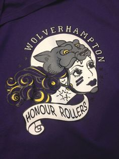 Fab new logo for Wolverhampton Honour Rollers we printed up! Loads of roller derby t-shirts in all sizes.