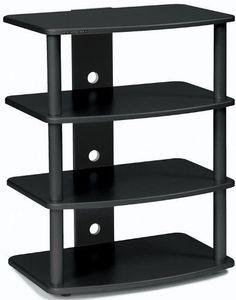 Plateau 758019000695 Model SF-4ABB SF Series Fixed Shelf Rack Audio/Video Stand, Black, Strong heavy gauge 1 1/2