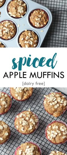 Spiced Apple Muffins - dairy free and an easy to make breakfast or snack | Lean, Clean, & Brie