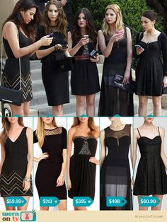 Pretty Little Liars is back next week! Check out what the girls will be wearing: Emily: http://wornontv.net/15609 Spencer: http://wornontv.net/15612 Aria: http://wornontv.net/15618 Hanna: http://wornontv.net/1561 Mona: http://wornontv.net/15606