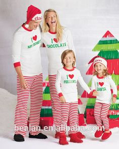 2015 Christmas Pjs Family Personalized I Heart Pj s Matching Pyjamas Photo 12dfc71a0