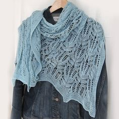 Big Blue-Shadow Shawl #knit #free_pattern