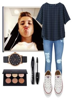 """Taking funny pictures with Matthew "" by emma-horan-73 on Polyvore featuring beauté, Lipsy, Uniqlo, Converse, Lancôme et Marc Jacobs"