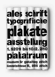 Alles Schrift - Typografische Plakate - Exhibitions