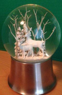Vintage Winter  Snow Globe Music Box--LET IT SNOW