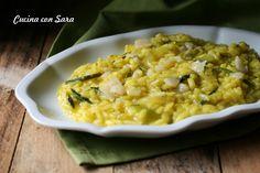Risotto alle zucchine e zafferano, un primo piatto semplice ma molto saporito. Ideale per grandi e piccini. Ottimo anche con riso integrale.