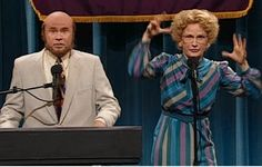 Marty and Bobbi Mohan-Culp. We got a real hot mic here. #snl #willferrel #anagasteyer