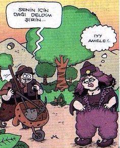 - Senin için dağı deldim Şirin.  + Iyy amele!..  #karikatür #mizah #matrak #komik #espri #komik #şaka #gırgır #komiksözler