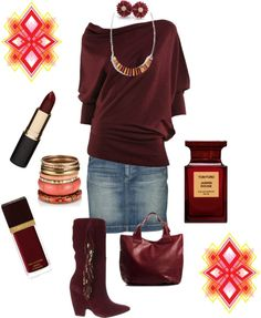 """""""Relaxed Maroon"""" by in2song on Polyvore"""