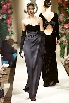 Saint Laurent Fall 2001 Couture Fashion Show