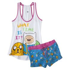 Adventure Time Junior s 2 Pc Pajama Set - Assorted Colors Adventure Time  Clothes b148be834