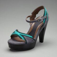 Teal gray sandal
