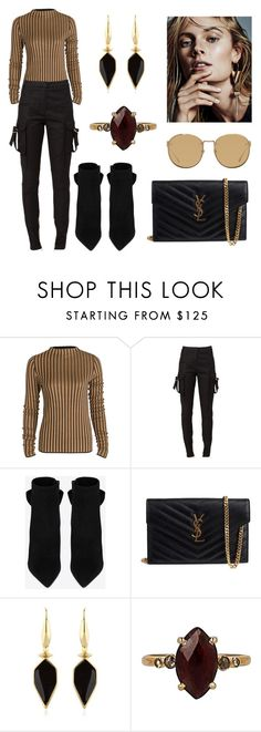 """""""Untitled #1237"""" by fervi ❤ liked on Polyvore featuring Balmain, Yves Saint Laurent, Isabel Marant, Chan Luu and Linda Farrow"""
