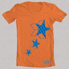 Camiseta naranja estrella 2