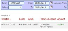 I WORK FROM HOME less than 10 minutes and I manage to cover my LOW SALARY INCOME. If you are a PASSIVE INCOME SEEKER, then AdClickXpress (Ad Click Xpress) is the best ONLINE OPPORTUNITY for you. Here is my Withdrawal Proof from AdClickXpress. I get paid daily and I can withdraw daily. Online income is possible with ACX, who is definitely paying - no scam here. http://www.adclickxpress(dot)com/?r=robertv&p=mx
