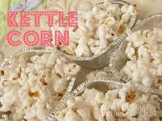 Authentic homemade oil-popped kettle corn in the microwave!
