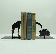Giraffe Metal Art Bookends