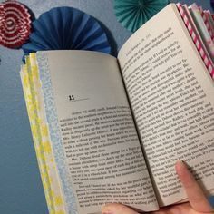 Use washi tape to line the first page of each chapter in a novel. This is so helpful for teachers who have to keep flipping back and forth, back and forth, year after year! ( Creative English Classroom Blog Post )