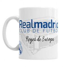 Compra onlina la taza más original y exclusiva del Real Madrid. Los reyes de Europa ya tienen la mejor Taza con Corazón merengue, Consíguela en La Cesta Mágica