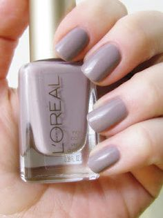 I love this - Lorea,l Eiffel For You.  Seriously this is my favorite nail polish that I have ever owned!  If you are looking for a really cool greige neutral, buy it.  It's awesome!
