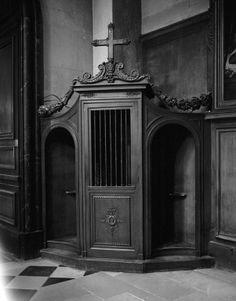 "Saatchi Art is pleased to offer the photograph, ""Confessional,"" by Tereza Zelenkova. Original Photography: Black & White, Gelatin on N/A. Catholic Priest, Catholic Art, Victorian Goth, Gothic, The Night Porter, The Mask Of Zorro, Lucrezia Borgia, Home Altar, Religious Tattoos"