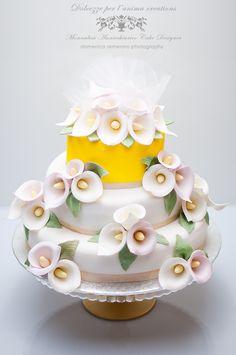 Dolcezze per l'Anima....Monnalisa's Cakes: Torta con Calle -Calla Lily Cake