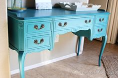 Pretty Color to paint an old desk!