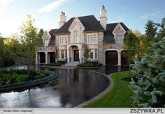 PCM Project & Construction Management Inc. - Your builder of new, luxury, custom built homes in Oakville and Mississauga. New Homes Oakville. Mansion Homes, Dream Mansion, Dream Houses, Huge Houses, Dream Home Design, My Dream Home, Dream House Exterior, Exterior Houses, House Exteriors