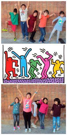 Keith Harintro g Keith Haring Kids, Keith Haring Prints, Art Lessons Elementary, Lessons For Kids, Middle School Art, Art School, Vive Le Sport, Tableaux Vivants, 5th Grade Art