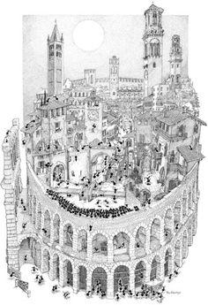"Puzzle ""Verona"". #formiche #puzzle #belpaese #italy #arena #romeo #art #culture #opera"