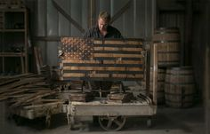 The Heritage Flag Company Makes One Of Kind Hand Made Wooden American Flags Out Old Whiskey Barrels