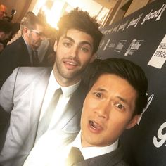 ShadowhuntersTV:  .@matthewdaddario and @harryshumjr at the #GLAADAwards! #Malec