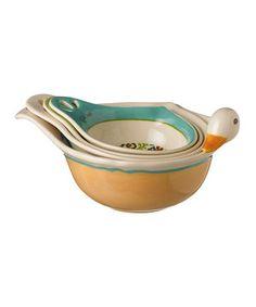 Duck Nested Measuring Bowls Set by Grasslands Road #zulily #zulilyfinds