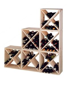 Pine Cube Wine Rack | Pine Wine Rack | Cube Wine Rack. Stain this a cherry or a deep walnut?