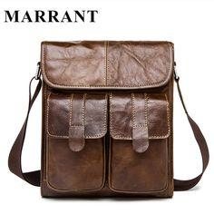 eff85f9512 Marrant sacchetto di cuoio genuino uomini borse a tracolla da uomo piccolo spalla  borse crossbody per