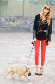 on the search for cropped red pants (in every color) to highlight a nice pair of heels