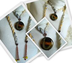 Lariat Necklace. multicolor fashion cord. mixed by NMNHANDMADE, $23.20